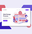 landing page template of website design process vector image