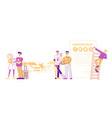 life and property safety guarantee people fill vector image