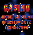 light bulb alphabet vector image vector image