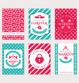 love romantic and valentines day banners vector image