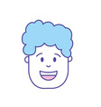 man head with hairstyle design vector image vector image