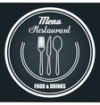 menu restaurant delicious food line isolated vector image vector image