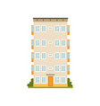 multi storey panel house facade urban vector image
