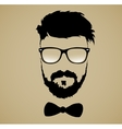 mustache beard glasses hairstyle vector image