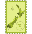 New Zealand on stamp vector image