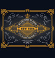 old logo with baroque elements vector image vector image