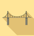 park bridge icon flat style vector image