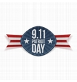 Patriot Day 9-11 Label with Ribbon vector image vector image