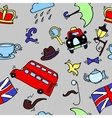 pattern with london touristic icons vector image vector image