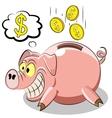 pig piggy vector image
