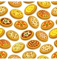 Pizza seamless pattern Italian cuisine background vector image