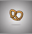pretzel germany isolated vector image