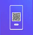 qr scanner modern flat style vector image vector image