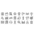 recruitment icons set outline style vector image vector image
