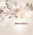 retro floral ornament design