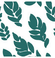 royal fern seamless pattern green leaf foliage vector image vector image
