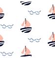 sailboat seamless kid pattern vector image vector image