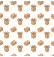 seamless background from a set cardboard boxes vector image vector image