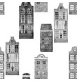 seamless pattern old european city houses vector image vector image