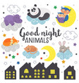 set isolated sleeping animals part 1 vector image