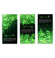set of banners with sparkling shamrock vector image vector image