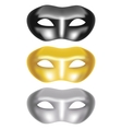 set of masks on a white background vector image vector image