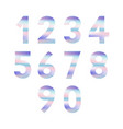 set of numbers with pastel colors vector image vector image