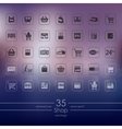 Set of shop icons vector image vector image