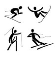 silhouette snowboard snowboarder alpine vector image
