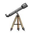sketch of telescope vector image