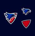 sport head eagle color designs template vector image vector image