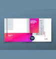 square brochure template design pink corporate vector image vector image