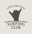 surfing club logo symbol or icon design template vector image vector image