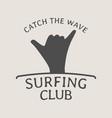 Surfing club logo symbol or icon design template vector image