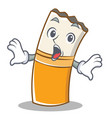surprised cigarette character cartoon style vector image