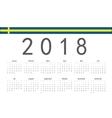 Swedish 2018 year calendar vector image vector image