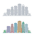 thin line cityscape vector image