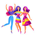 three dancing girls vector image vector image