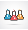 Three flasks color icon vector image vector image