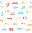 transport signs thin line seamless pattern vector image vector image