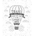 travel air balloon vector image vector image