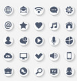 Universal web icons set contact and communication