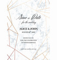 wedding invitations template of geometric design vector image vector image