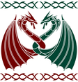 dancing dragons vector image