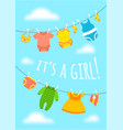 baby shower party cute invitation card vector image
