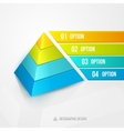pyramid infographic design template vector image