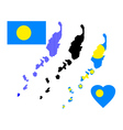 map of Palau vector image
