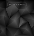 Abstract black diamond polygon background vector image