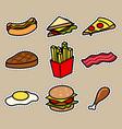 cute food icon sticker vector image