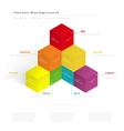3d color cubes vector image vector image